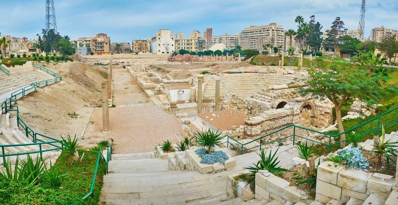 Romański okres w Egipt, Aleksandria obrazy royalty free