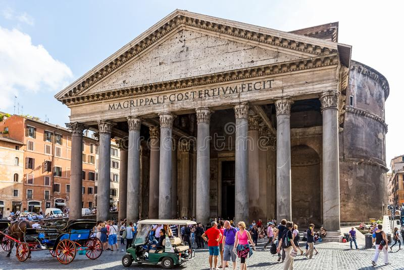 Romański panteon, Wiecznie miasto Rzym obrazy stock