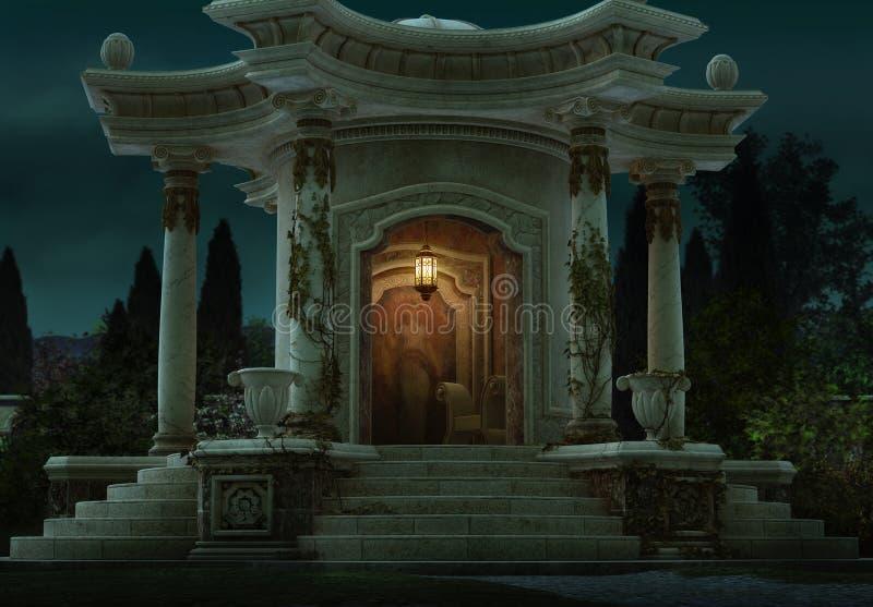 Romański pawilon, 3d CG ilustracji