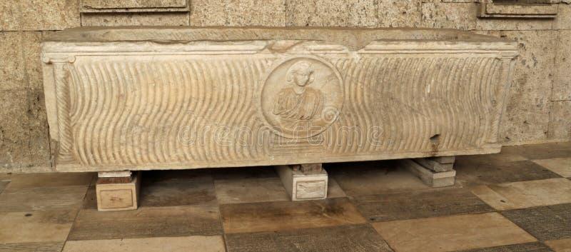 Romański sarkofag - Cagliari fotografia royalty free