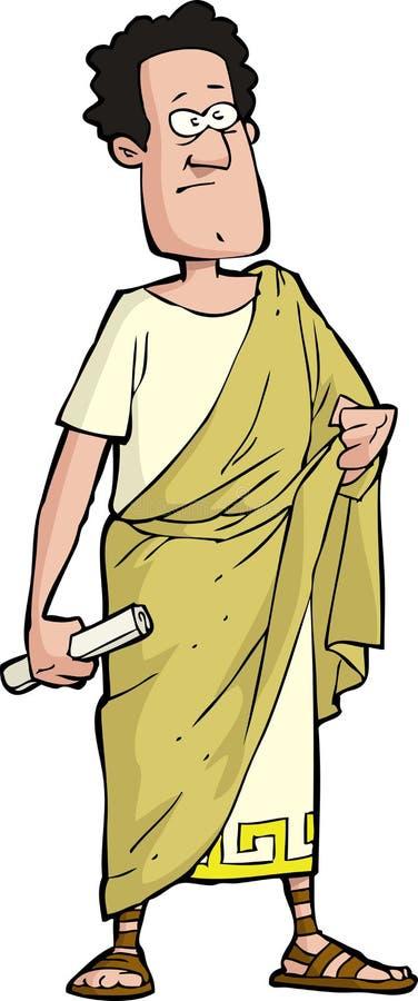 Romański senator ilustracja wektor