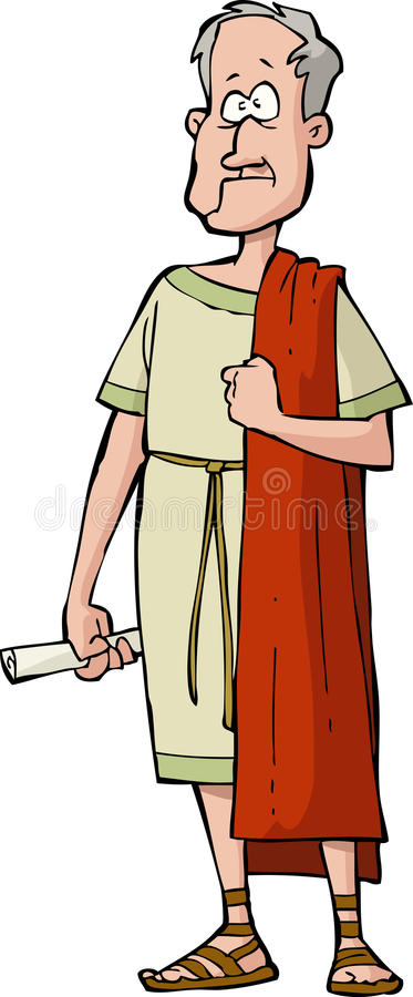 Romański senator royalty ilustracja