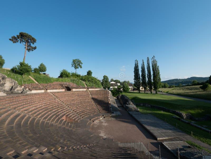 Romański theatre w Kaiseraugst w Szwajcaria zdjęcia royalty free