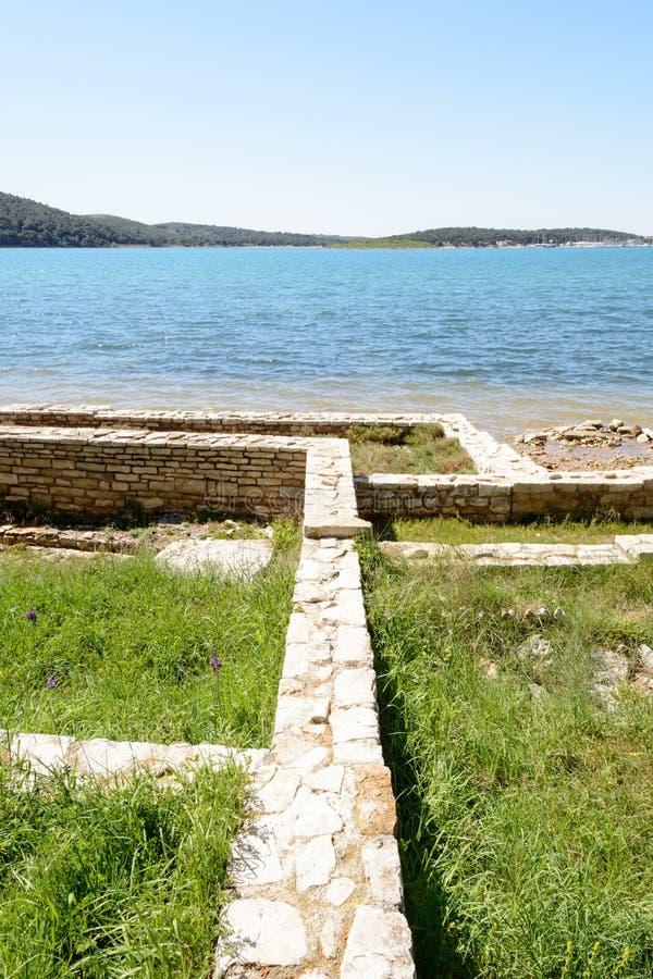 Romański zostaje, Medulin, Istria region, Chorwacja obraz stock