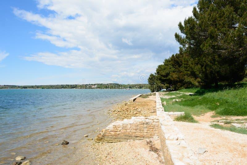 Romański zostaje, Medulin, Istria region, Chorwacja obrazy royalty free