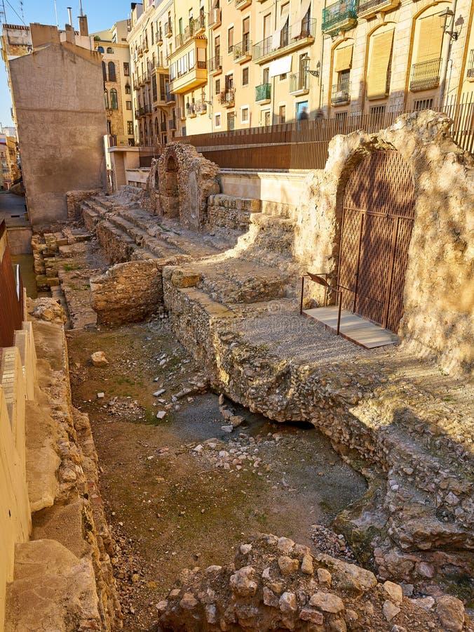 Romańskie archeologiczne ekskawacje Tarragona zdjęcie stock