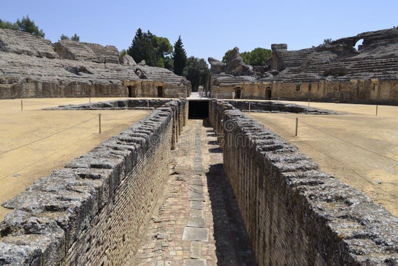 Romańskie Italica ruiny obrazy stock