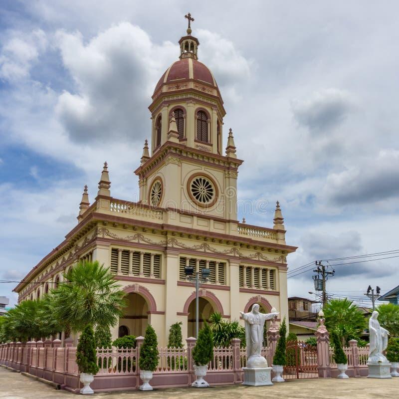 Romańskiego catholicism Chruch imienia Santa Cruz kościół zdjęcie stock