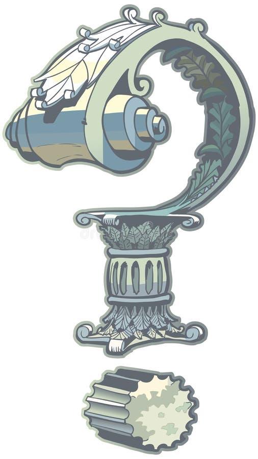 Romańskiej architektury znaka zapytania klamerki Wektorowa sztuka ilustracja wektor