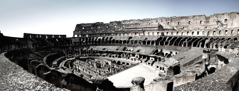 Roma all'interno di Colosseum fotografia stock