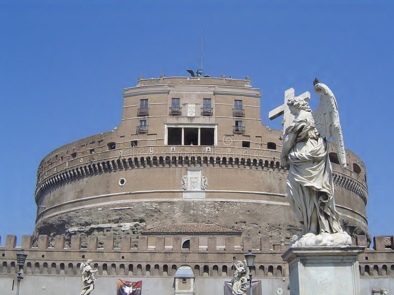Roma angelo royalty free stock photo