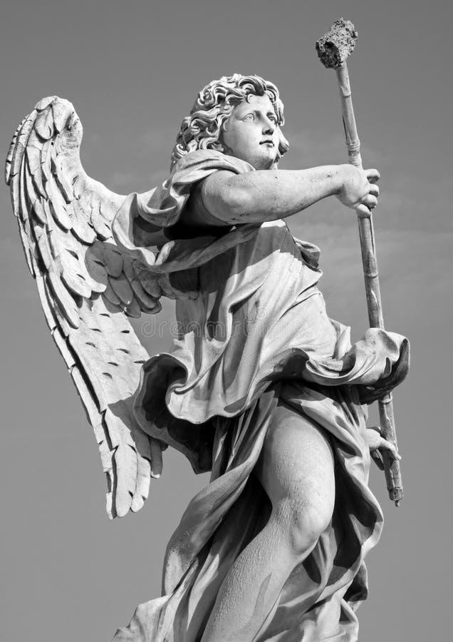Roma - anjo com a esponja da ponte do anjo s fotografia de stock