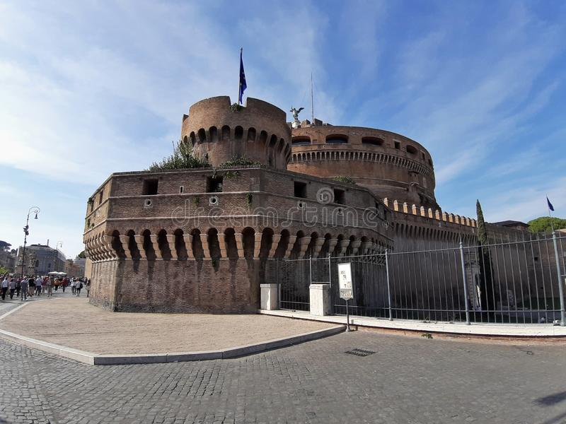 Rome - Bastione San Giovanni di Castel Sant`Angelo. Rome, Lazio, Italy - October 23, 2019: Bastione San Giovanni of Castel Sant`Angelo royalty free stock photography