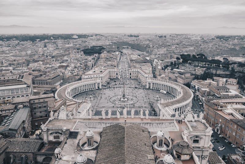 Roma blanco y negro desde arriba imágenes de archivo libres de regalías