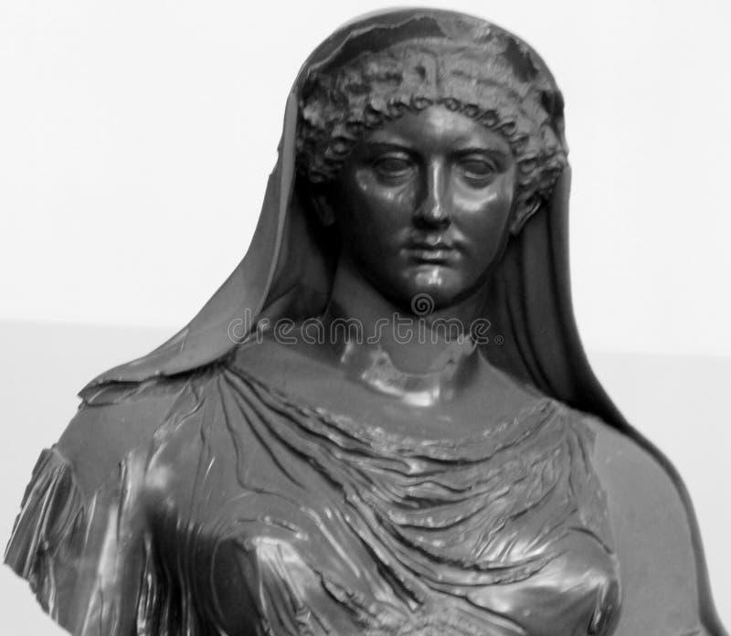 Roma, Centrale Montemartini Estátua de Agrippina imagens de stock