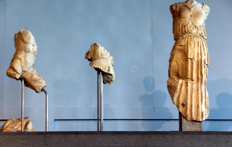 Roma, Centrale Montemartini estátuas imagens de stock royalty free