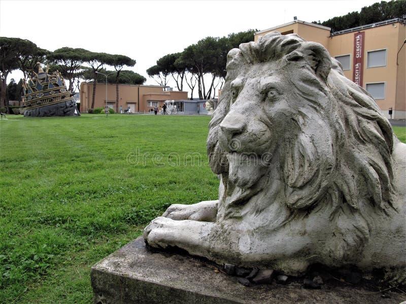Roma, Cinecittà estúdios imagens de stock