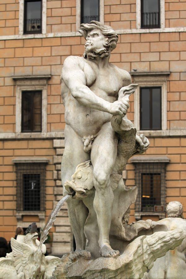 Roma. Coloque Navona fotografía de archivo libre de regalías