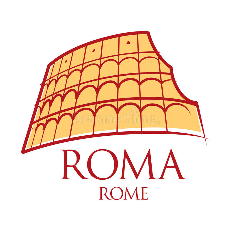 Roma Colosseum Italia libre illustration