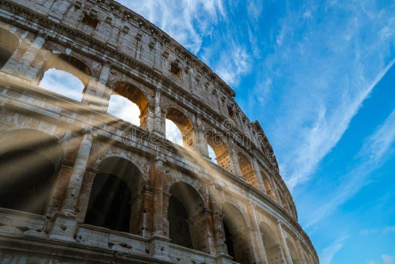 Roma Colosseum vicino sulla vista a Roma, Italia fotografia stock