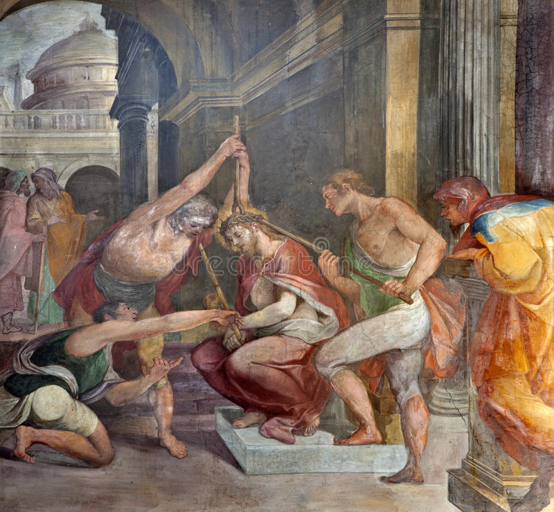 Roma - coronación de las espinas de Cristo imagen de archivo