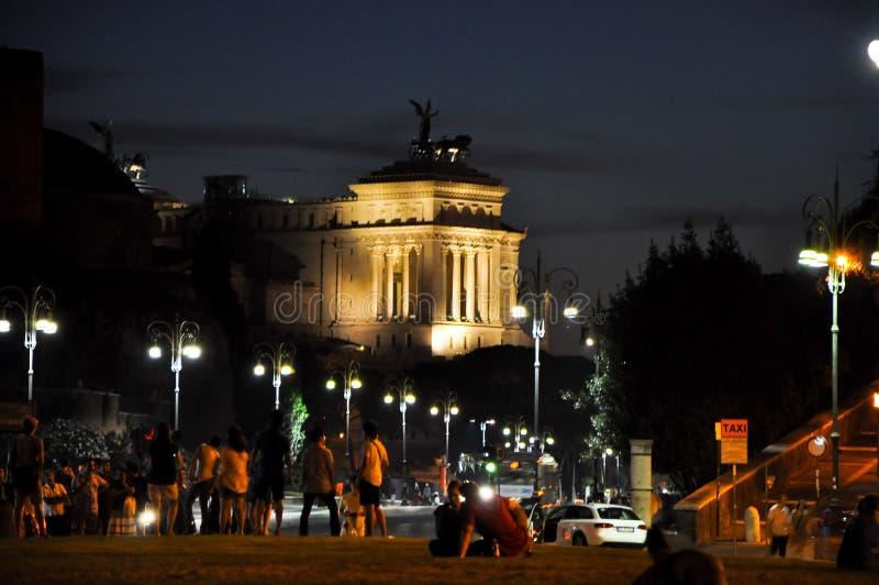 ROMA 20 DE JULIO: Roma en la noche en julio 20,2010, Italia. imagen de archivo