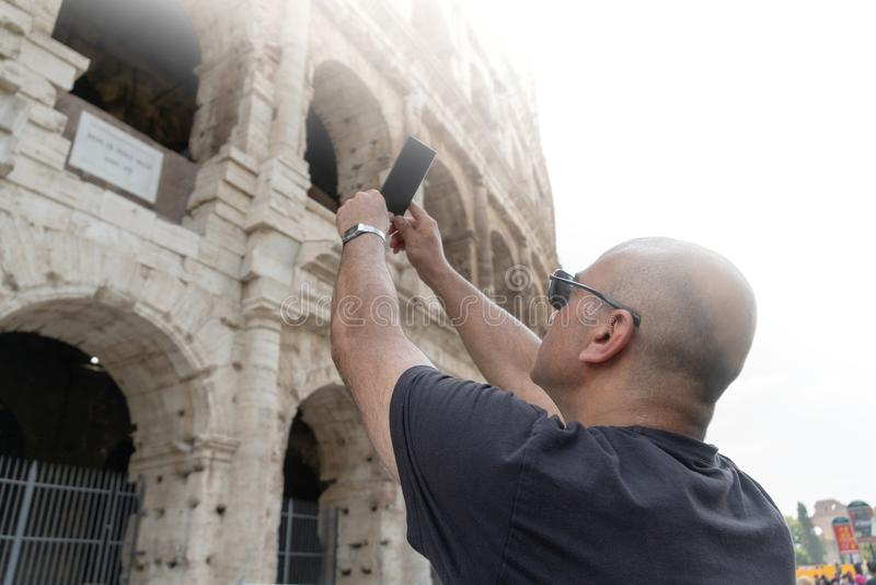 Roma de visita fotos de stock
