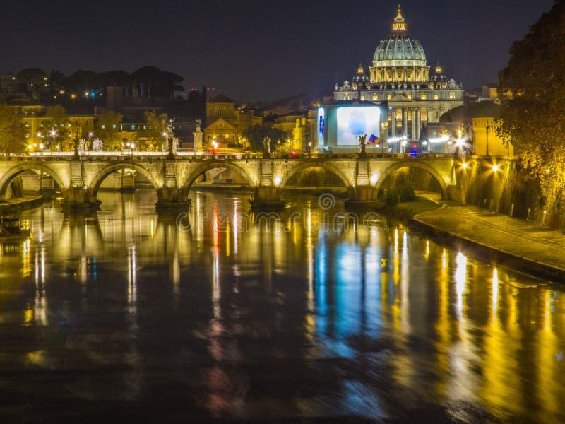 Roma em a noite foto de stock