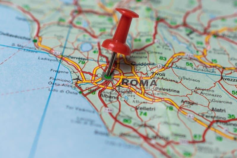Roma en mapa fotos de archivo libres de regalías