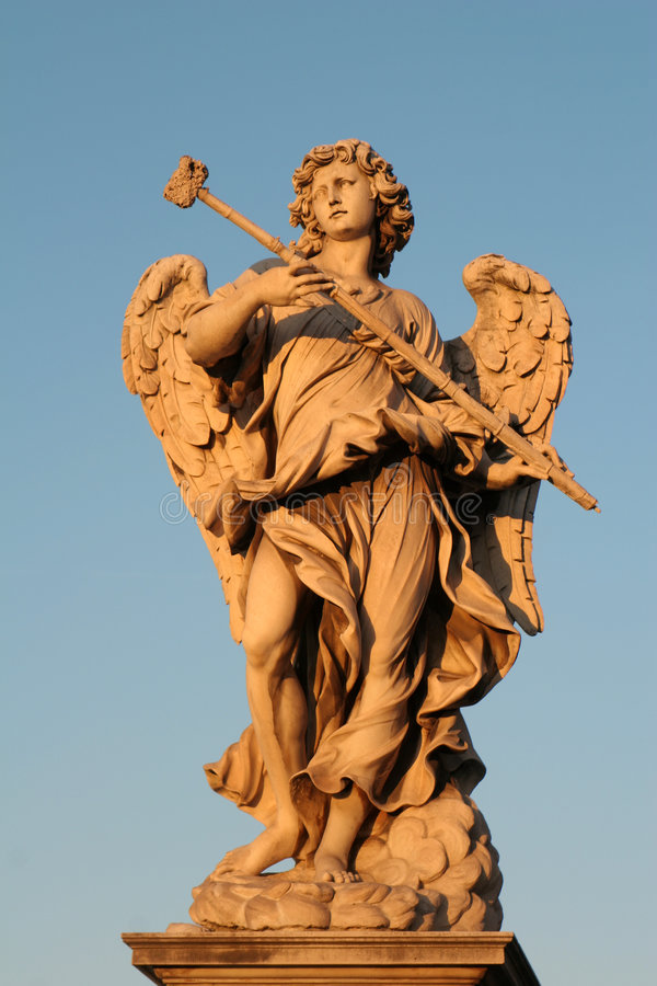 Roma - estátua do anjo fotos de stock