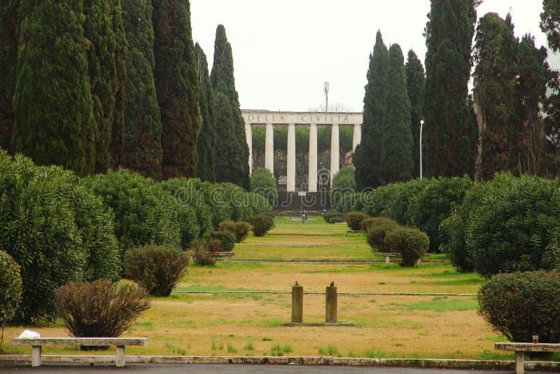 Roma EUR, el della Civiltà Romanade Museo fotografía de archivo libre de regalías