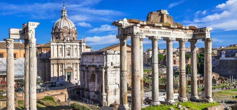 Roma - fórum imperial fotos de stock royalty free