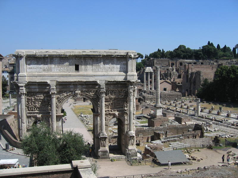 Roma - fórum Romanum foto de stock royalty free
