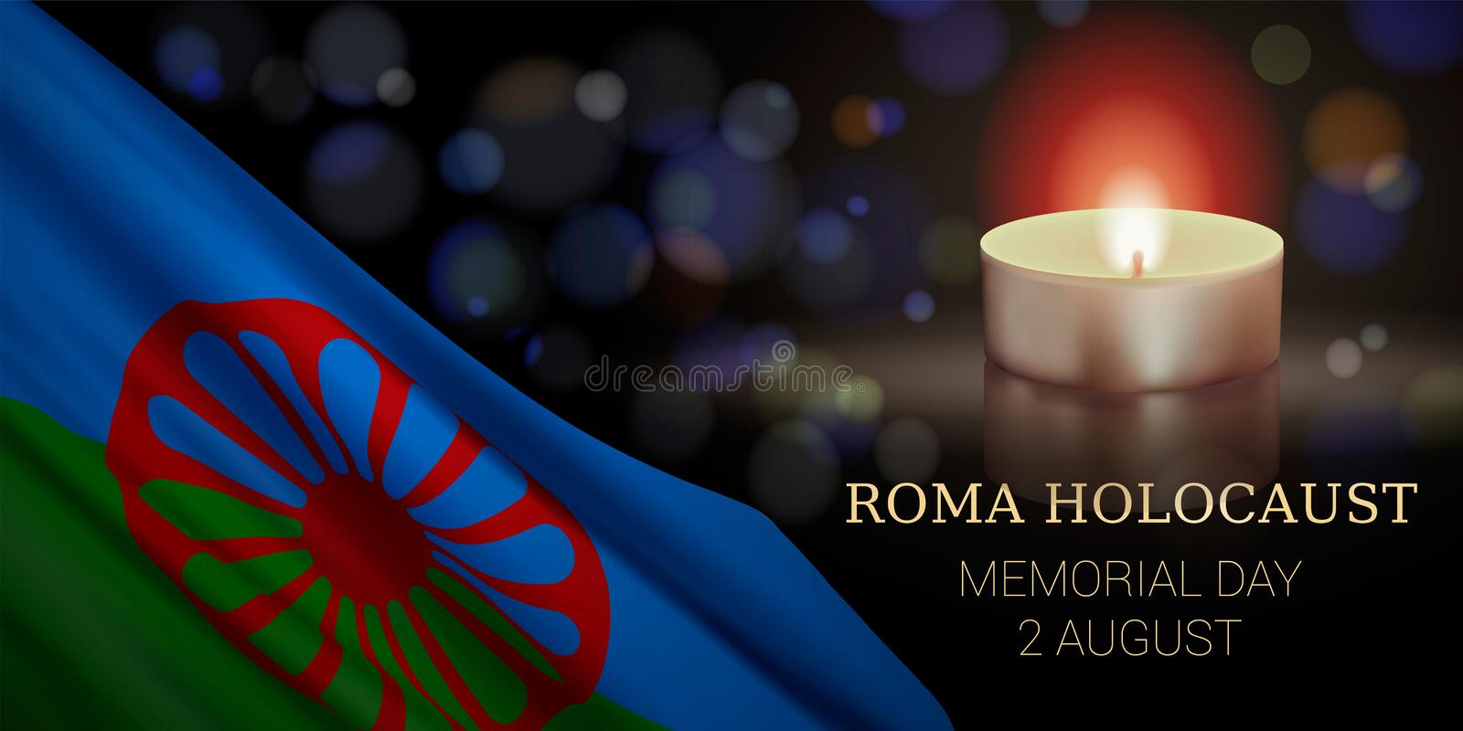 Roma Holocaust Memorial Day, August 2. vector illustration