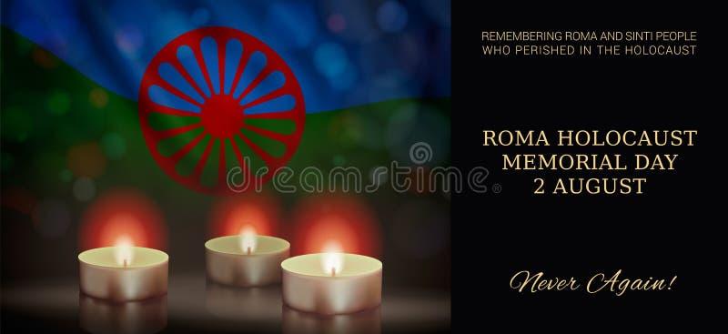 Roma Holocaust Memorial Day, am 2. August lizenzfreie abbildung