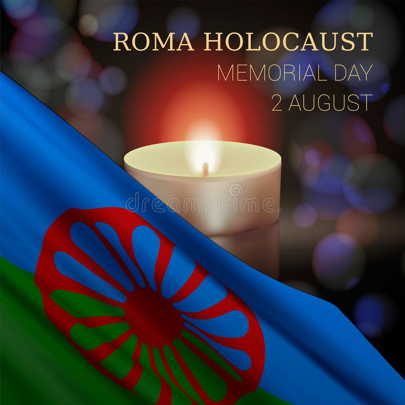 Roma holokaust Memorial Day, Sierpień 2 royalty ilustracja