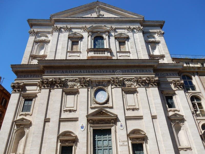 Roma - iglesia de San Carlo a Catinari imagenes de archivo