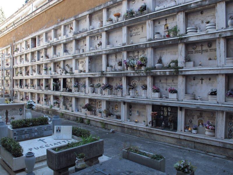 Roma il cimitero di Verano fotografia stock libera da diritti