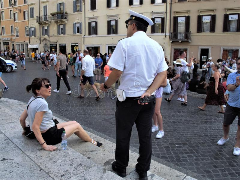 Roma, il quadrato della Spagna fotografia stock libera da diritti