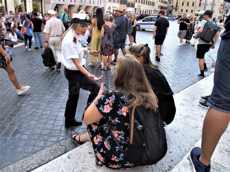 Roma, il quadrato della Spagna fotografia stock