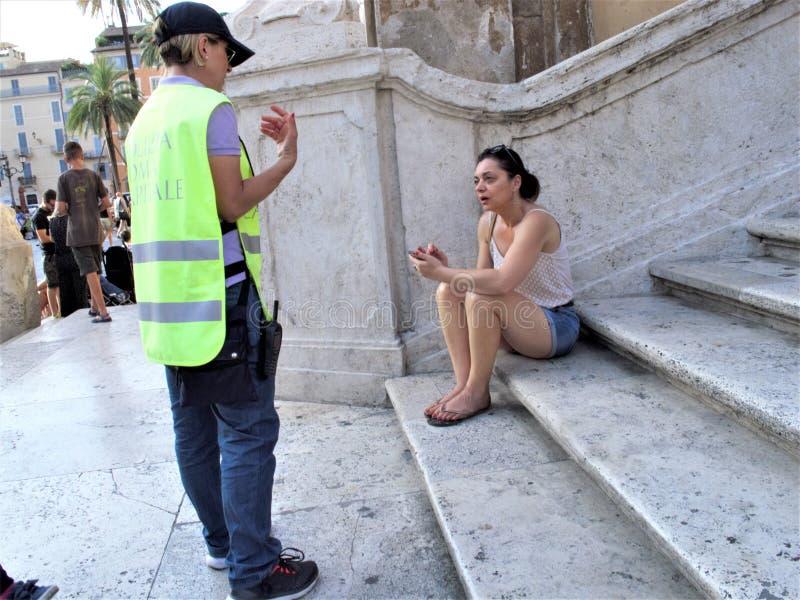 Roma, il quadrato della Spagna immagine stock