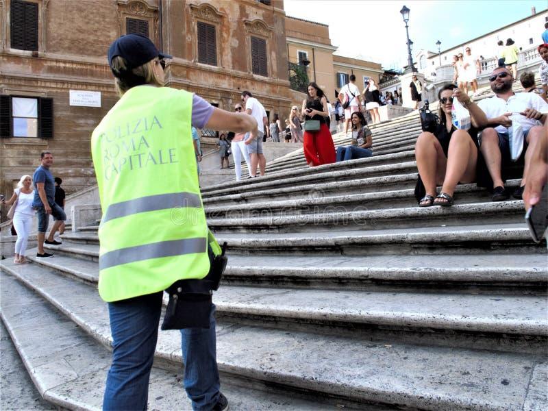Roma, il quadrato della Spagna immagini stock libere da diritti
