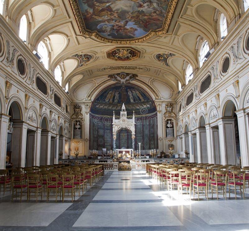 Roma - interior de Santa Cecilia imagen de archivo