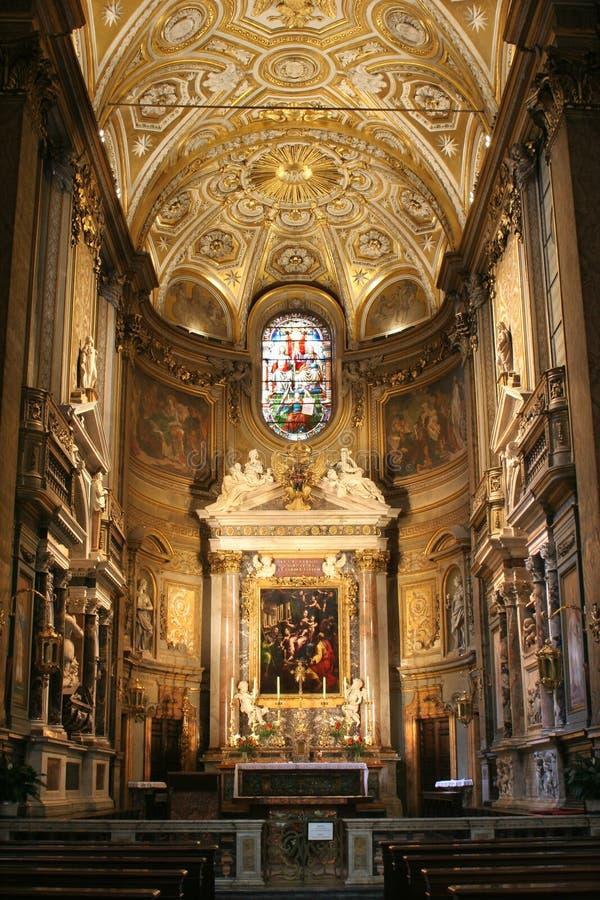 Roma - interor del passo di della della Santa Maria fotografia stock libera da diritti