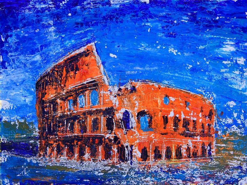 Roma, Itália Colosseum ilustração do vetor
