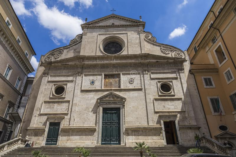 Roma, Itália, em junho de 2017 Igreja de St Augustine Basilica di St imagens de stock