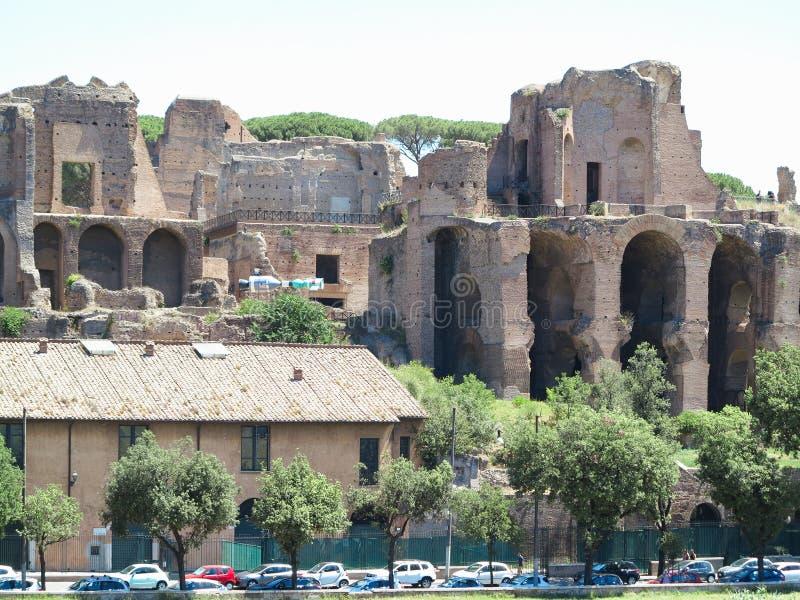 19 06 2017 Roma, Itália, Europa: As ruínas aproximam o maximus do circo, Ther fotos de stock royalty free