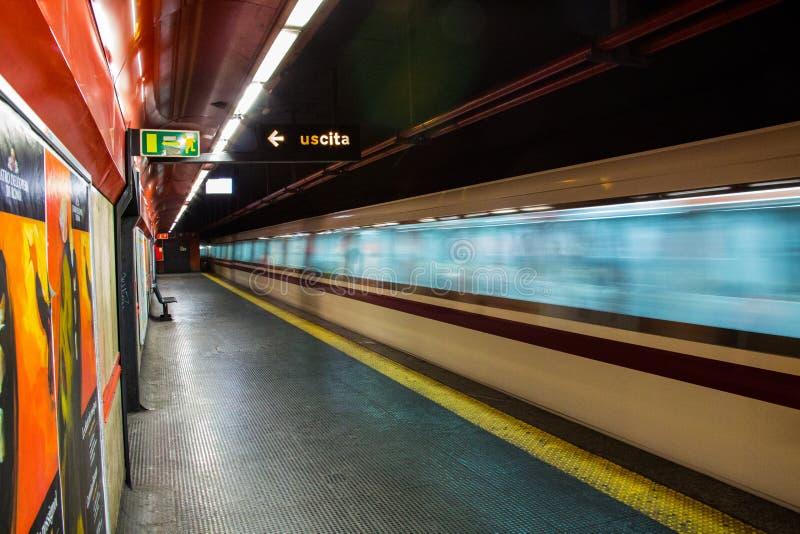 Roma, Itália, metro imagens de stock