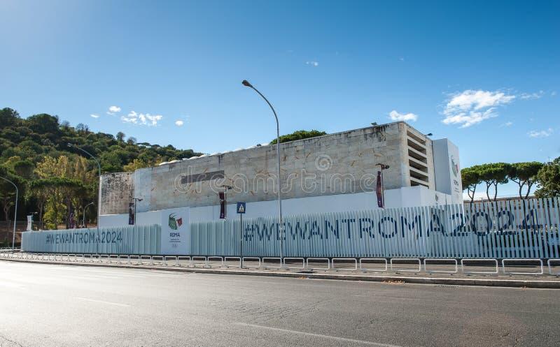 Roma, Italia - 6 de agosto de 2016 Sede del comité para Roma Ol fotos de archivo libres de regalías