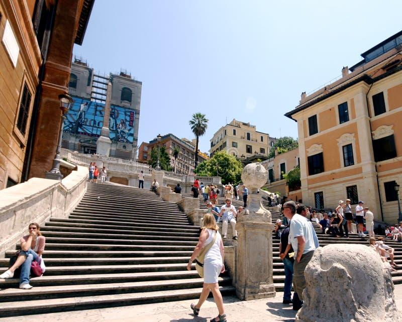 Roma, Italia 17 de junio de 2005: Pasos españoles imágenes de archivo libres de regalías